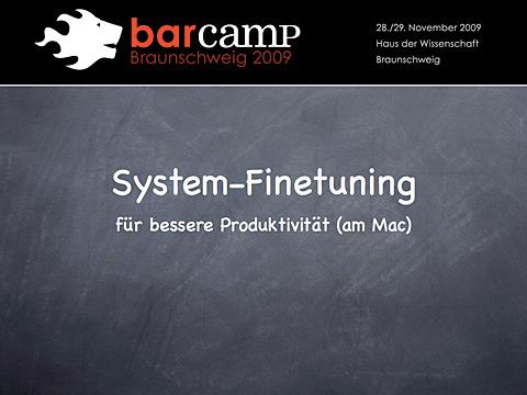 System-FineTuning Titel