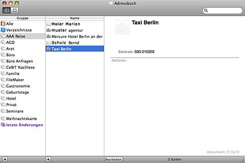 Apple Adressbuch