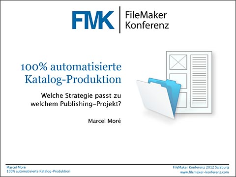 FMK2012 Vortrag FileMaker Databasepublishing