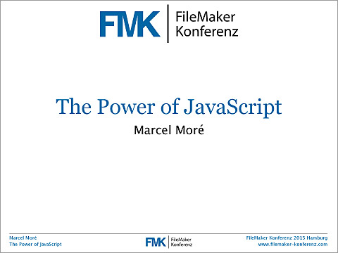 FMK2015 The Power of JavaScript